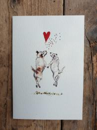 Elena Deshmukh Terriers HAppiness Card SAlly Bourne Interiors Lond Muswell Hill Greeting Cards