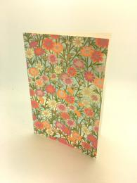 Handmade card with floral meadow print