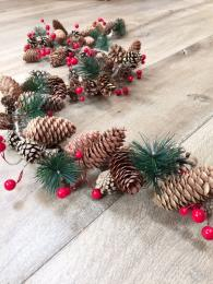 Garland with Cones Berries Christmas Sally Bourne Interiors Decoration Winter