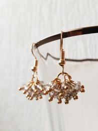 My Willow and White Gold Champagne Earrings Jewellery gemstone Sally Bourne Interiors
