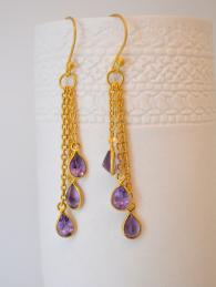 Gold Plated Chain Drop Earrings Jewellery Jewelry Sally Bourne Interiors