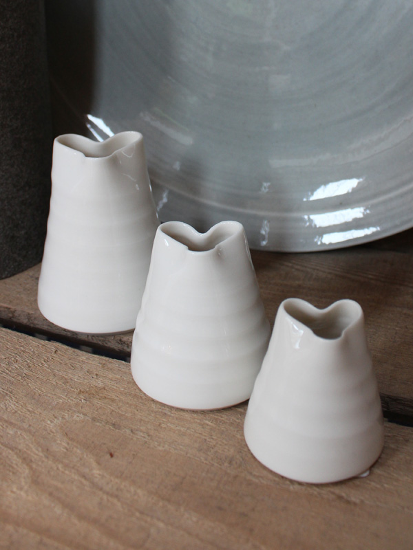 Porcelain Heart Jug large small set