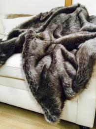 Helen Moore Faux Fur Throw Lady Grey