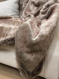 Helen Moore Faux Fur Throw Truffle