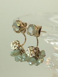Earrings, Jewellery, jewelry, Drop, Cluster, Beaded, Blue, Green, Shining, Glittering, Statement, Dangling, Glamarous, Sparkiling, Gemstone, Gold, Contemporary, Modern, Precious, Delicate,