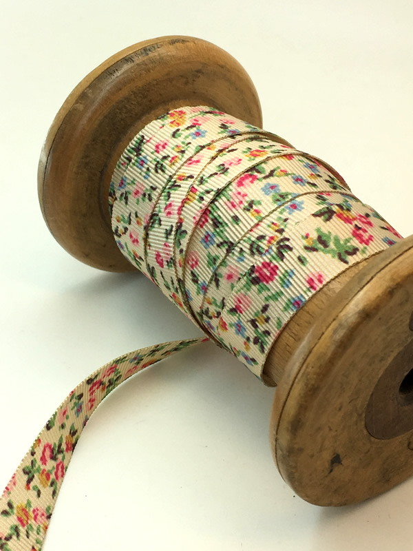 Floral liberty print ribbon with ditsy print flowers