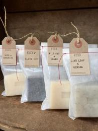 Bagged Soap by Sally Bourne Interiors London Muswell Handmade essential oils homemade family business Clovelly