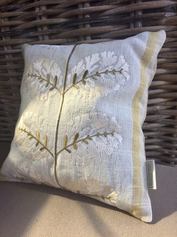 Lavender scented pillow, A, Colefax and Fowler fabric, handmade.