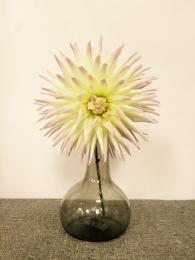 Smoke Glass Vase Sally Bourne Interiors Flower Dahlias