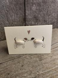 Mini Jack Russells Card Penny Lindop Sally Bourne Interiors London Greeting Cards
