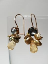Bee Earrings Yellow Pearl Citrine Ottomania Jewellery Sally Bourne Interiors
