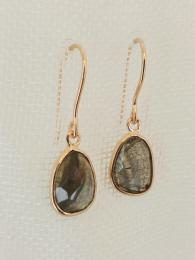 Pebble Central Stone Drops Earrings Labradorite Sally Bourne Interiors Pomegranate Jewellery Handmade Jewelry