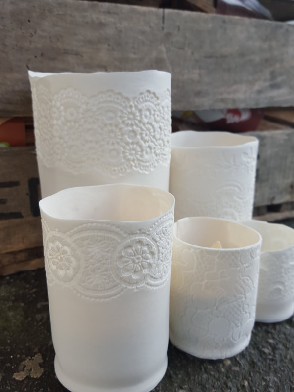 Leonora Richardson Porcelain Tealight Holders