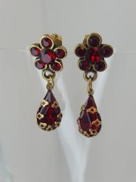 Michal Negrin Flower Stud Drop Earrings jewellery jewelry sally bourne interiors London Swarovski crystals