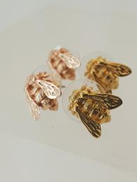 Rose Gold and Gold Bees Earrings Jewellery Jewelry London
