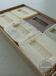 Set of six small Scented Soaps handmade exclusively for Sally bourne Interiors London Muswell Hill