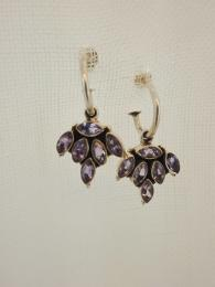 Silver Amethyst Earrings Jewellery Jewels Jewelry Sally Bourne Interiors Gemstone Semi Precious Stone