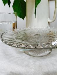 Glass Vintage Cake Stand