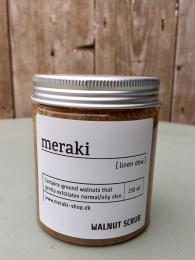 Meraki Walnut Scrub Linen Dew 250ml Sally Bourne Interiors