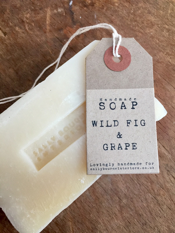 Wild Fig and Grape Soap Scented Sally Bourne Interiors handmade clovelly organic