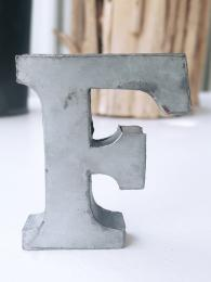 Zinc Letter F Alphabet Sally Bourne Interiors London