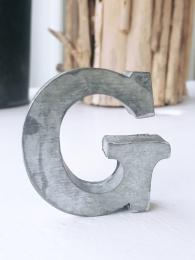 Zinc Letter G Sally Bourne Interiors Alphabet