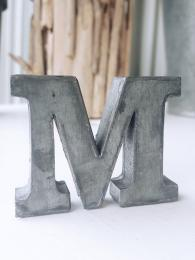 Zinc Letter M Alphabet Sally Bourne Interiors London