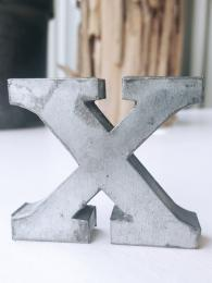 Zinc Letter X Alphabet Sally Bourne Interiors London UK