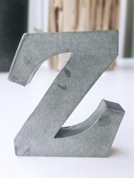 Zinc Letter Z Alphabet Sally Bourne Interiors London UK