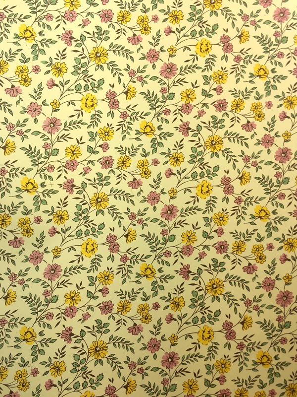 florentine yellow floral paper